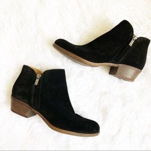 """Lucky Brand """"Barough"""" Black Ankle Boots"""